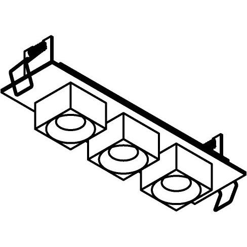 Drawing of 8368/.. - STELLA IN, half in- en opbouw spot - vierkant - vast - met vierkante Zia Led - zonder LED driver