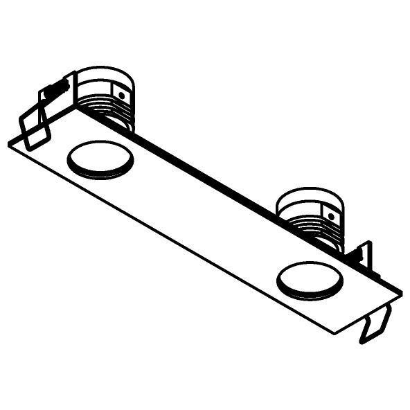 Drawing of 8377/.. - STELLA IN, inbouwspot - vierkant - vast - met ronde Zia Led - zonder LED driver
