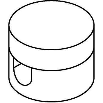 Drawing of 5014/.. - MAESTRO, connector voor wand- of plafond snoerbevestiging voor strijkijzersnoer
