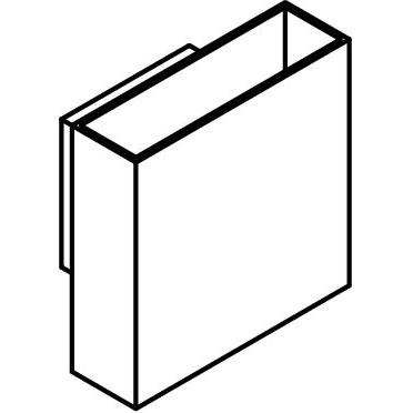 Drawing of 1048/.. - GEORGE, opbouw wandlicht - vierkant - vast - down/up