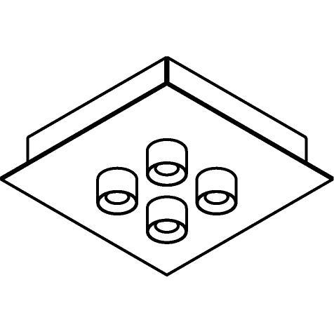 Drawing of 8340/.. - STELLA, opbouw plafondverlichting - vast - met ronde Zia Led - met LED driver
