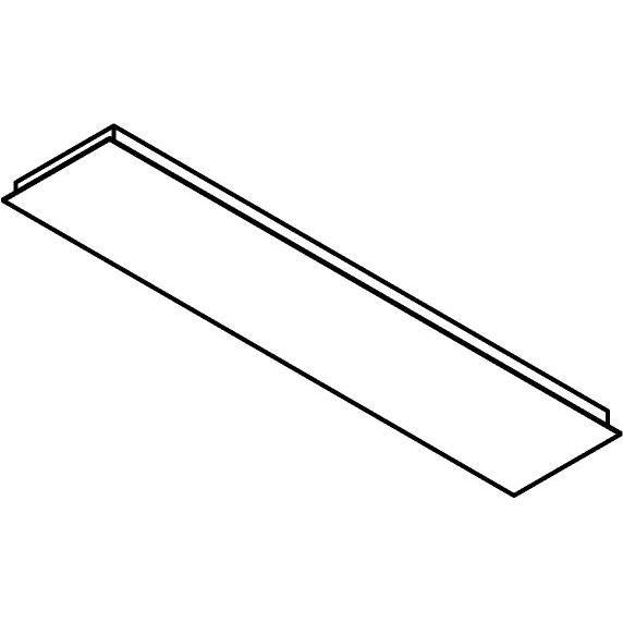 Drawing of 704.800X300/.. - TEXO, plafondverlichting - rechthoekige basis voor opbouwspot of pendel