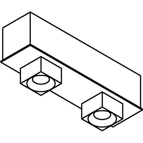 Drawing of 8343/.. - STELLA, vast - met vierkante Zia Led - met LED driver