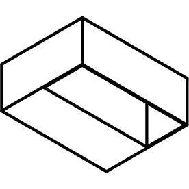 Drawing of 1064/.. - GASTON, opbouw wandlicht - vierkant - vast - down