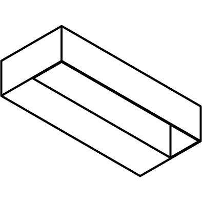 Drawing of 1067/.. - GASTON, opbouw wandlicht - vierkant - vast - down