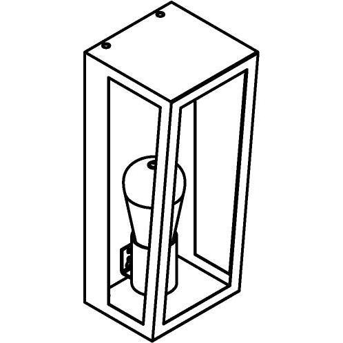 Drawing of W1190/.. - POLO, opbouw wandlicht