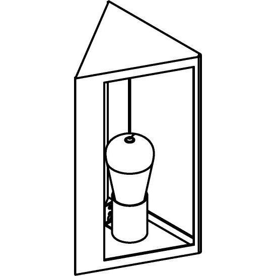 Drawing of W1192/.. - POLO, opbouw wandlicht
