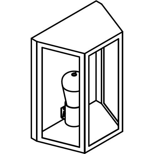Drawing of W1193/.. - POLO, opbouw wandlicht