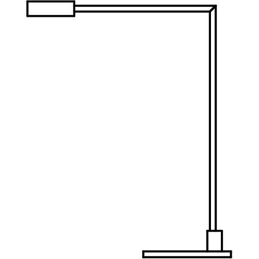 Drawing of 1106L/.. - JAMES, tafellamp - richtbaar - met snoer en stekker links - met LED driver