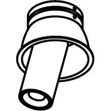 Drawing of 1170.70.S1/.. - PIVOT, spot encastrable - rond - orientable - sans driver LED