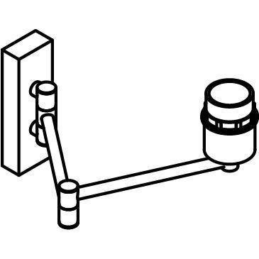 Drawing of 5026SH/.. - MAESTRO, opbouw wandlicht - richtbaar - met plooibare arm
