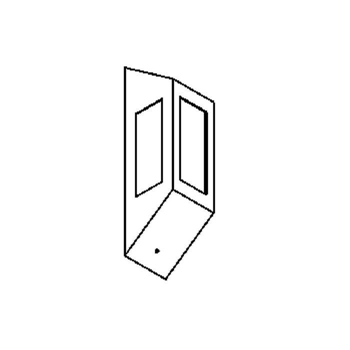 Drawing of W1195/.. - METIS - PONTOS, opbouw wandlicht - 3 openingen