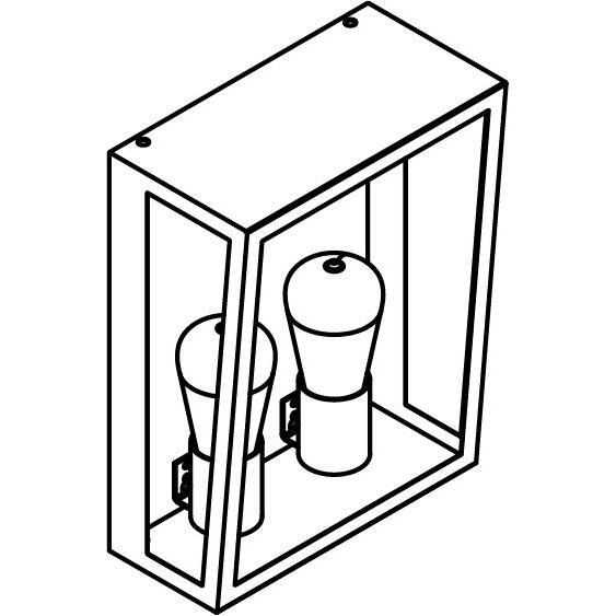 Drawing of W1191.B/.. - POLO, opbouw wandlicht
