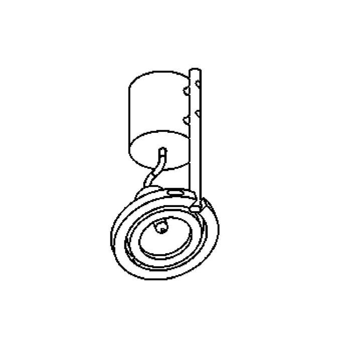 Drawing of 1287.ES50/.. - PLAZA, opbouw plafondverlichting - richtbaar