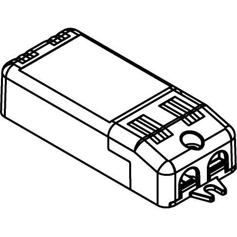 Drawing of TR127040/.. - DRIVER, vierkant - driver 10W 350mA dimbaar LC