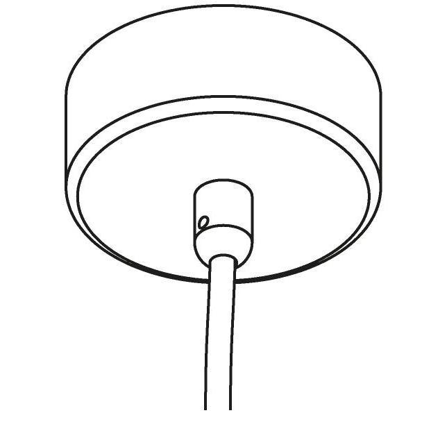 Drawing of 071/.. - ROSETTE for textile cable, opbouwrozet - met trekontlasting voor 1 textielkabel