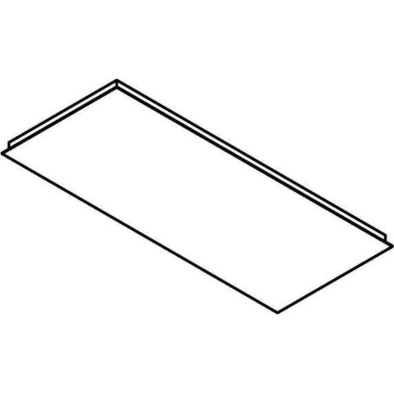 Drawing of 705.1200X500/.. - Texo, rechthoekige basis voor opbouwspot of pendel