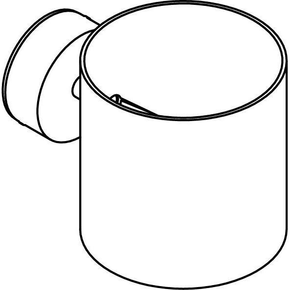 Drawing of 4036/.. - KOBUS, opbouw wandlicht - rond - vast - down/up