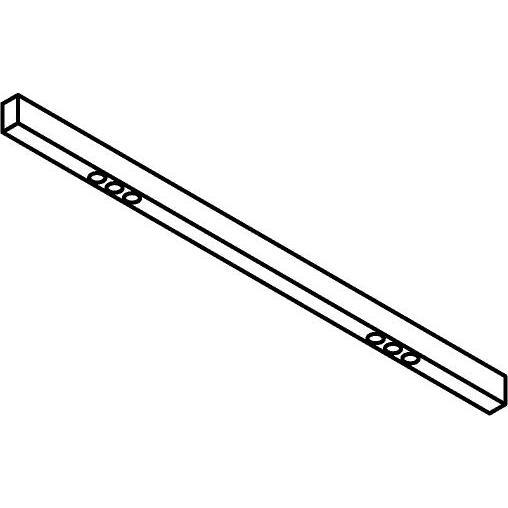 Drawing of 2919.1400/.. - STELLA LINE, vast - down - profiel met 2x3 ZIA LED - met LED driver