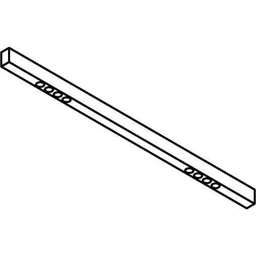 Drawing of 2945.1400/.. - STELLA LINE, vast - down - profiel met 2x4 ZIA LED vast - met LED driver