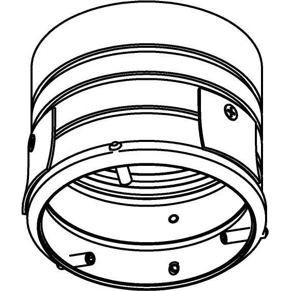 Drawing of E-RING-GYPROC/.. - Ø80-82 EQUAL CLICK SYSTEM GYPROC, inbouwring - rond - voor plafond in gyproc