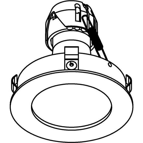 Drawing of E-CLICKFIX.ES50/.. - Ø80-82 EQUAL CLICK SYSTEM, inbouwcassette - rond - vast - zonder ledlamp