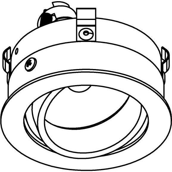 Drawing of E-CLICKDIR.DICRO/.. - Ø80-82 EQUAL CLICK SYSTEM, inbouwcassette - rond - richtbaar - zonder ledlamp - zonder transfo