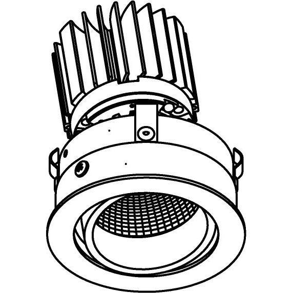 Drawing of E-CLICKDIR.XTM/.. - Ø80-82 EQUAL CLICK SYSTEM - XICATO LEDMODULE, inbouwcassette - rond - richtbaar - zonder LED driver