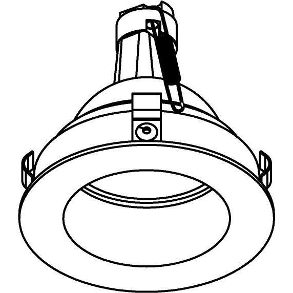 Drawing of E-CLICKDWN.DICRO/.. - Ø80-82 EQUAL CLICK SYSTEM, inbouwcassette - rond - vast - down - zonder ledlamp - zonder transfo