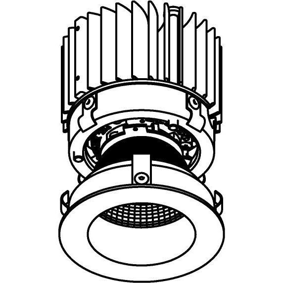 Drawing of E-CLICKDWN.XTM/.. - Ø80-82 EQUAL CLICK SYSTEM - XICATO LEDMODULE, inbouwcassette - rond - vast - down - zonder LED driver