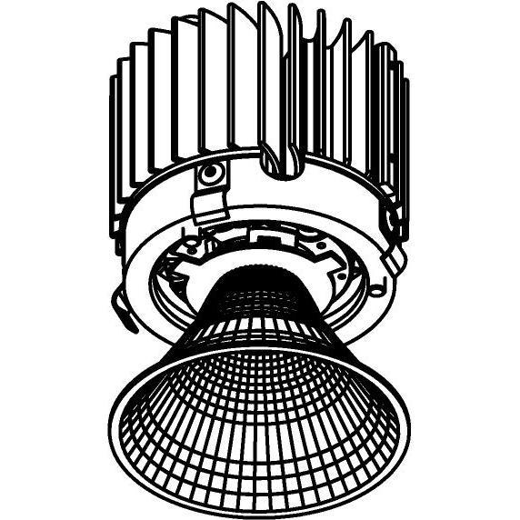 Drawing of E-CLICKREF.XTM/.. - Ø80-82 EQUAL CLICK SYSTEM - XICATO LEDMODULE, inbouwcassette - rond - vast - met reflector - zonder LED driver
