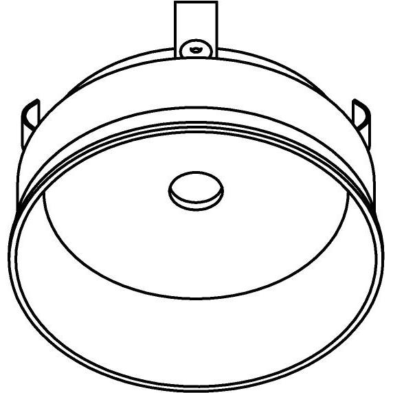 Drawing of E-CLICKREZA/.. - Ø80-82 EQUAL CLICK SYSTEM, inbouwcassette voor spot of pendel - rond