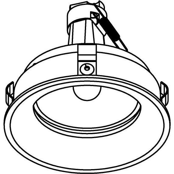 Drawing of E-CLICKBOM.DICRO/.. - Ø80-82 EQUAL CLICK SYSTEM, inbouwcassette - rond - vast - zonder ledlamp - zonder transfo