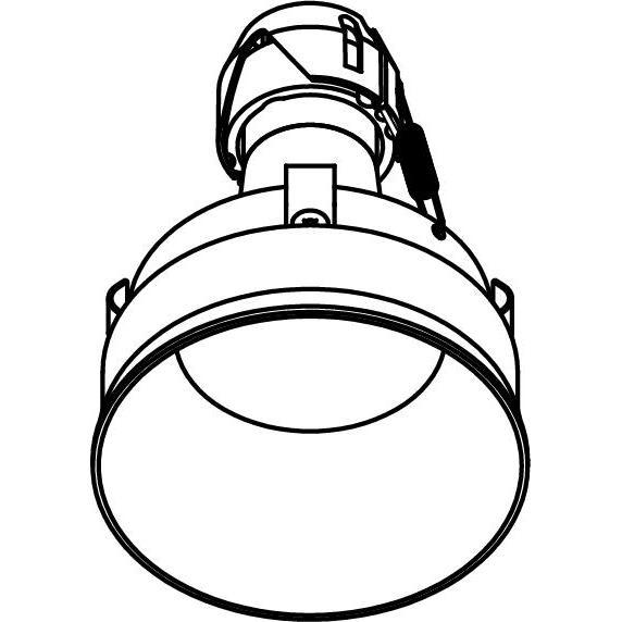 Drawing of E-CLICKYOKO.ES50/.. - Ø80-82 EQUAL CLICK SYSTEM, inbouwcassette - rond - vast - down - zonder ledlamp