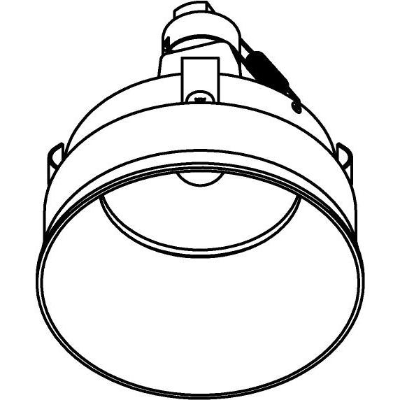 Drawing of E-CLICKYOKO.DICRO/.. - Ø80-82 EQUAL CLICK SYSTEM, inbouwcassette - rond - vast - down - zonder ledlamp - zonder transfo