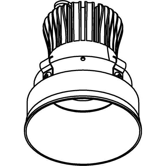Drawing of E-CLICKYOKO.SLE/.. - Ø80-82 EQUAL CLICK SYSTEM - SORAA LEDMODULE, inbouwcassette - rond - vast - down - zonder LED driver