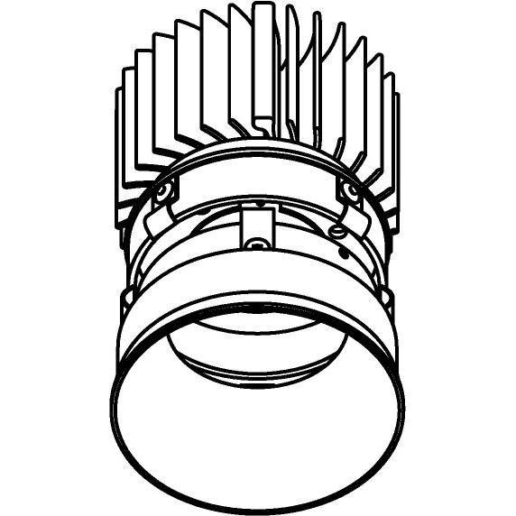 Drawing of E-CLICKYOKO.XTM/.. - Ø80-82 EQUAL CLICK SYSTEM - XICATO LEDMODULE, inbouwcassette - rond - vast - down - zonder LED driver