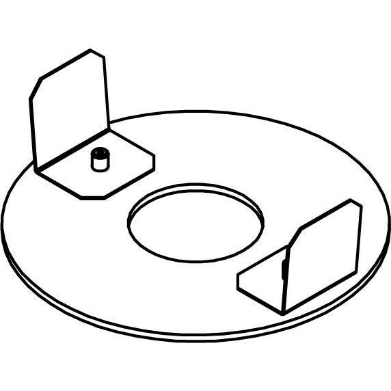 Drawing of E-COVER/.. - EQUAL CLICK SYSTEM, inbouwcassette - herbruikbare afdekplaat