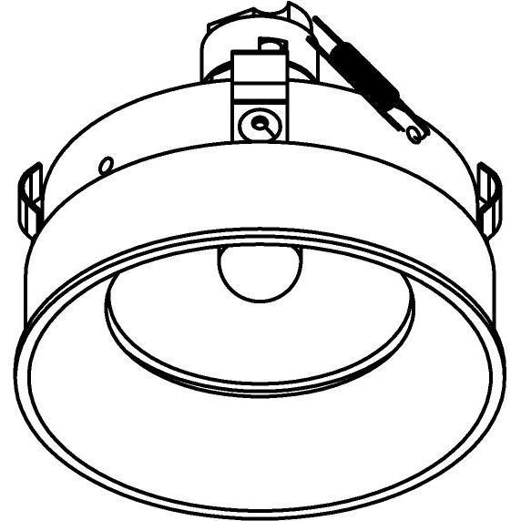 Drawing of E-CLICKANNA.DICRO/.. - Ø80-82 EQUAL CLICK SYSTEM, inbouwcassette - rond - vast - zonder ledlamp - zonder transfo
