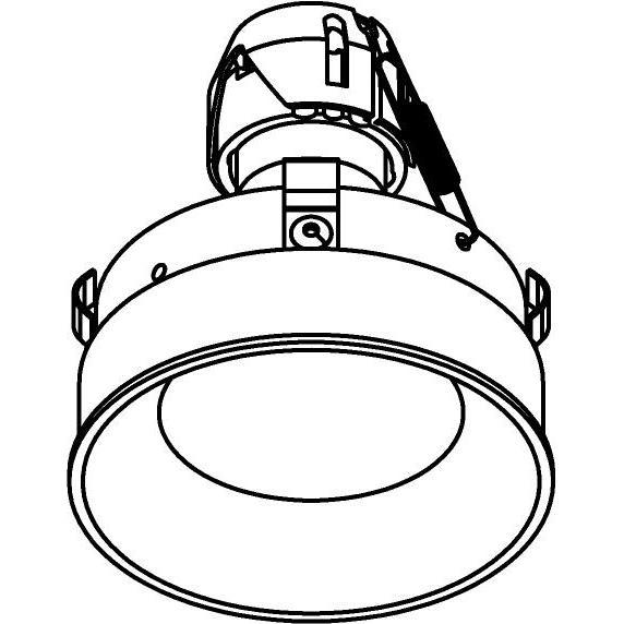 Drawing of E-CLICKANNA.ES50/.. - Ø80-82 EQUAL CLICK SYSTEM, inbouwcassette - rond - vast - zonder ledlamp