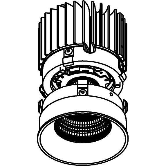 Drawing of E-CLICKANNA.XTM/.. - Ø80-82 EQUAL CLICK SYSTEM - XICATO LEDMODULE, inbouwcassette - rond - vast - zonder LED driver