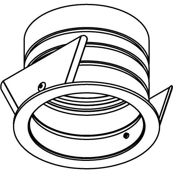 Drawing of E-ROUNDBASE/.. - Ø82 EQUAL CLICK SYSTEM, inbouwring - rond - met rand