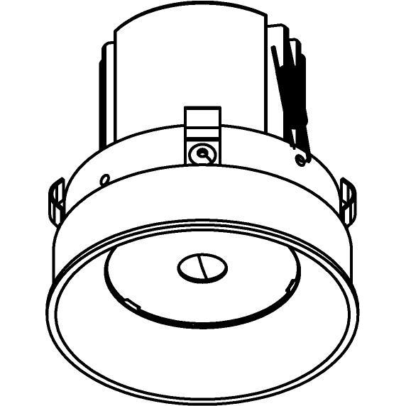 Drawing of E-CLICKANNA.DC/.. - Ø80-82 EQUAL CLICK SYSTEM, inbouwcassette - rond - vast - zonder LED driver