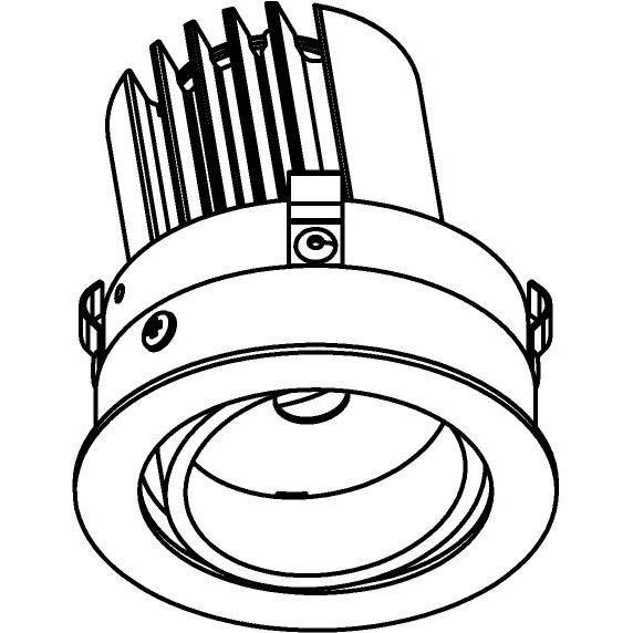 Drawing of E-CLICKDIR.DC/.. - Ø80-82 EQUAL CLICK SYSTEM, inbouwcassette - rond - richtbaar - zonder LED driver