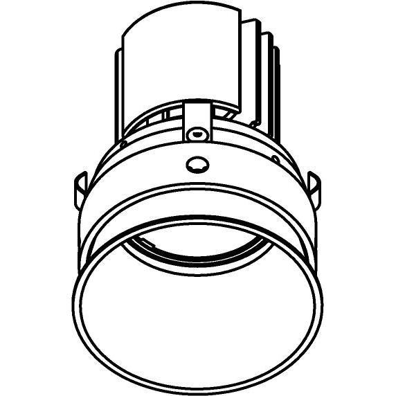 Drawing of E-CLICKCAP.DC/.. - Ø80-82 EQUAL CLICK SYSTEM, inbouwcassette - rond - vast - down - zonder LED driver