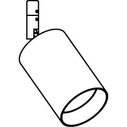 Drawing of 7600.1200.DC/.. - CAPA X, spot apparent - rond - orientable - avec module LED - sans driver LED