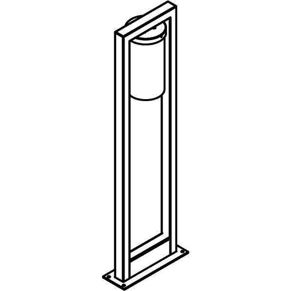 Drawing of T1151/.. - POLINA, tuinpaal met grondplaat - glas H250