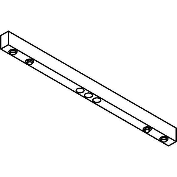 Drawing of 2922.1000/.. - STELLA LINE, down - profiel met 2x2 STELLA richtbaar + 1x3 ZIA LED vast - met LED driver