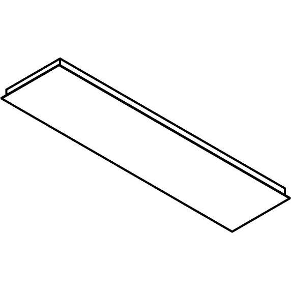 Drawing of 704.1200X300/.. - TEXO, rechthoekige basis voor opbouwspot of pendel