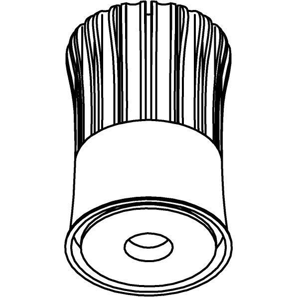 Drawing of SLE11D25/.. - LEDMODULE SORAA, Soraa Module + bevestiging spot - zonder LED driver